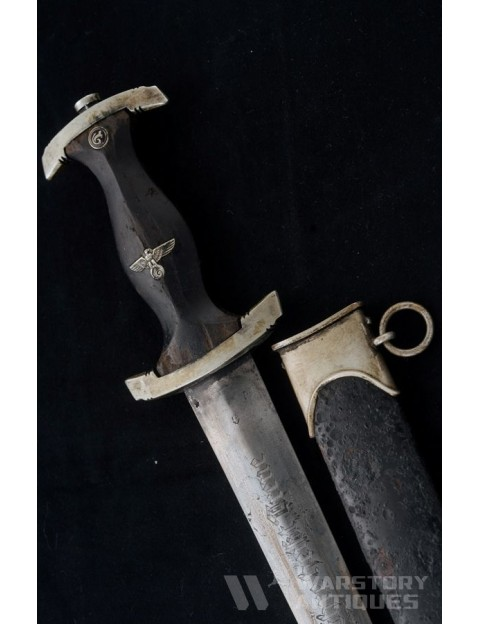 Ground Rohm SS dagger. Robert Klaas Solingen. Model 1933